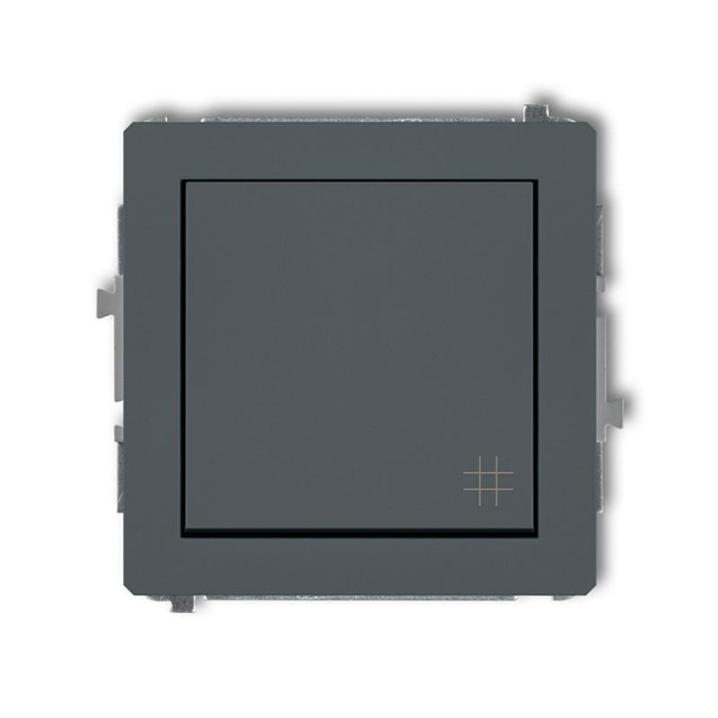 Wylaczniki-krzyzowe - włącznik krzyżowy grafitowy mat 28dwp-6 deco karlik firmy Karlik