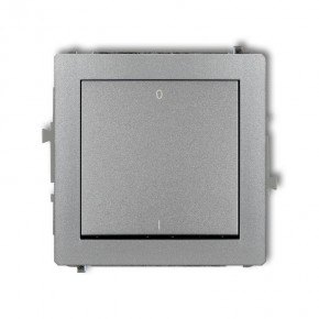 Wylaczniki-podwojne - włącznik srebrny metaliczny dwubiegunowy 7dwp-9 deco karlik
