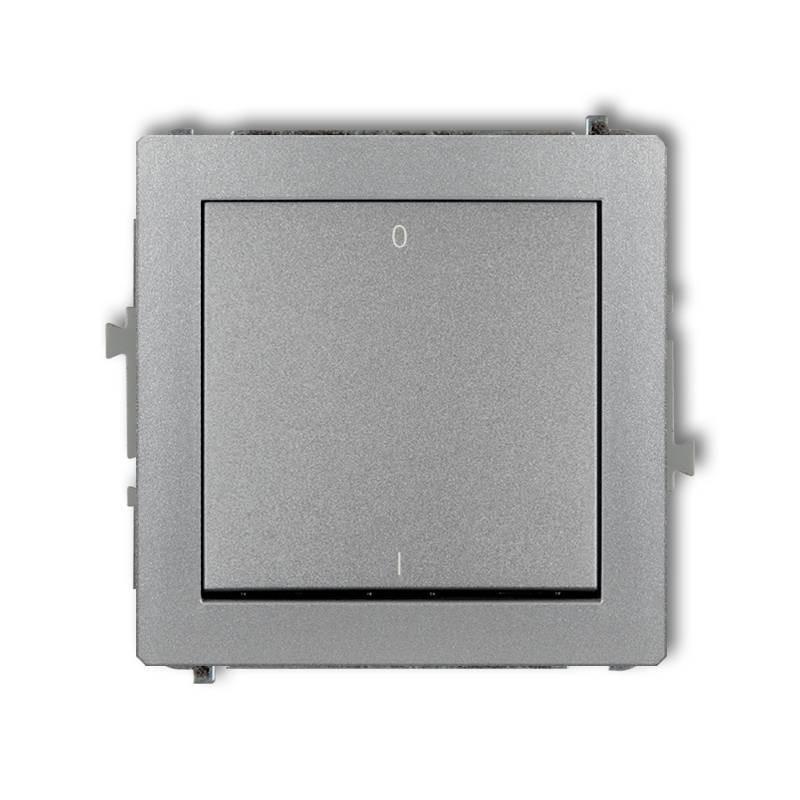 Wylaczniki-podwojne - włącznik srebrny metaliczny dwubiegunowy 7dwp-9 deco karlik firmy Karlik