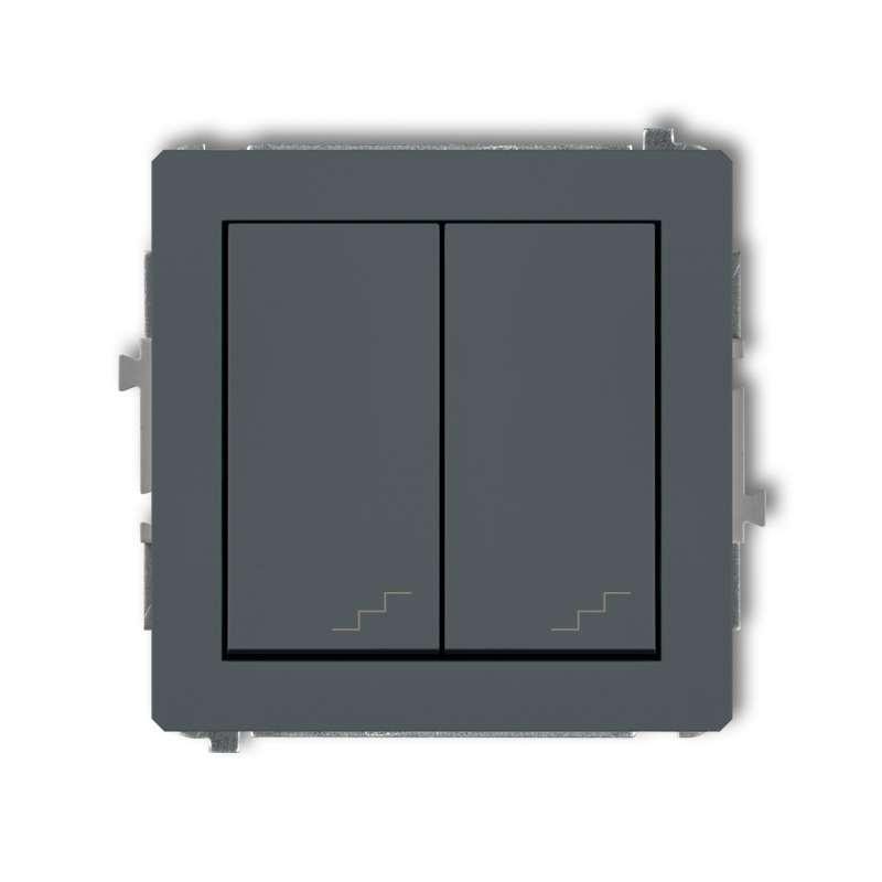 Wylaczniki-schodowe - podwójny włącznik schodowy grafitowy mat 28dwp-33 deco karlik firmy Karlik