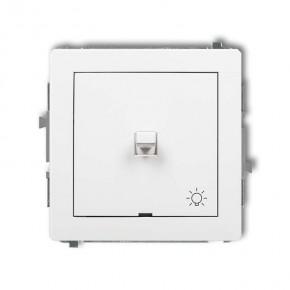 Wylaczniki-amerykanskie - włącznik zwierny z piktogramem światła biały dwpus-5 deco karlik