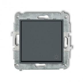 Wylaczniki-typu-swiatlo-zwierne - przycisk światło zwierny z piktogramem grafitowy mat 28mwp-5 deco mini karlik