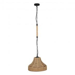 Lampy-sufitowe - lampa sufitowa beżowy sznur na żarówkę e27 augusta rope 314543 polux