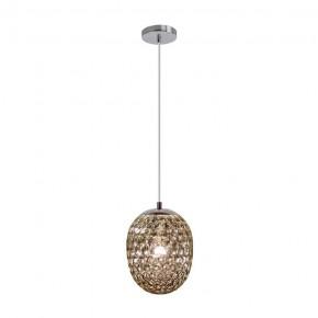 Lampy-sufitowe - dekoracyjna lampa wisząca na żarówkę e27 lora smokey 314284 polux