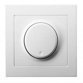 ŁP-8W/00 Biały ściemniacz przyciskowo-obrotowy do oświetlenia żarowego i halogenowego KIER OSPEL