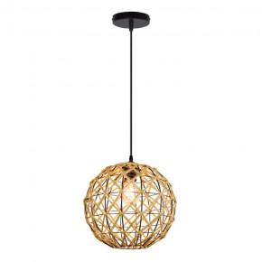 Lampy-sufitowe - lampa sufitowa wisząca beżowa sznur e27 il mio umea 316523 polux