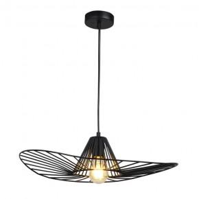 Lampy-sufitowe - czarna lampa wisząca w kształcie kapelusza e27 il mio abano 317186 polux