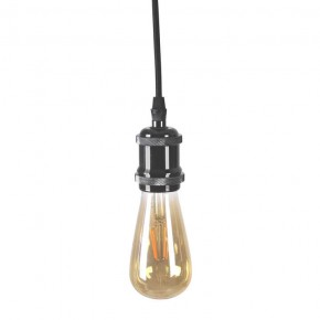 Lampy-sufitowe - lampa wisząca zwis na żarówkę e27 czarny il mio nola 315533 polux