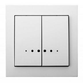 Włącznik dwugrupowy świecznikowy z podświetleniem biały ŁP-2WS/00 KIER OSPEL