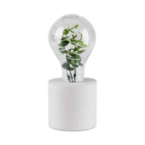 Lampki-biurkowe - lampka led biała na baterie ze sztuczną rośliną liv 1 polux