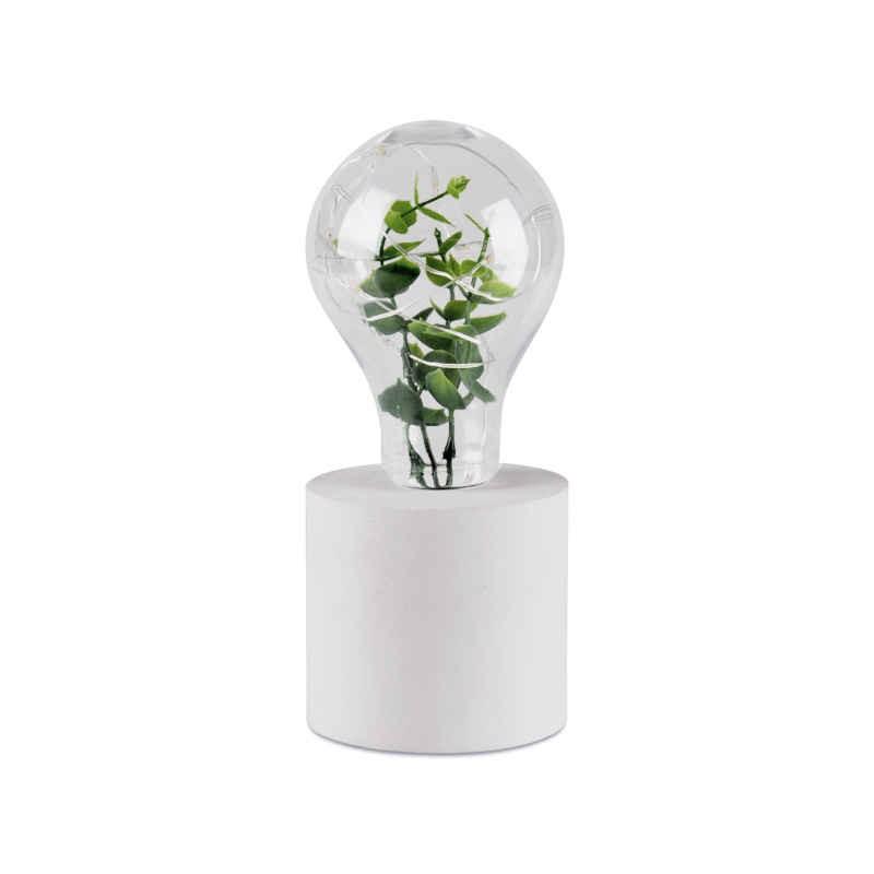 Lampki-biurkowe - lampka led biała na baterie ze sztuczną rośliną liv 1 polux firmy POLUX