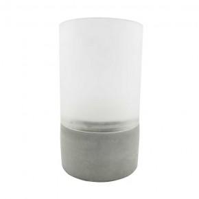Ozdobne-oswietlenie-do-ogrodu - szara lampka dekoracyjna na taras z timerem 3xaaa 1700k luky led 315205 polux