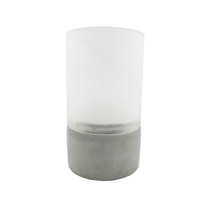Ozdobne-oswietlenie-do-ogrodu - szara lampka dekoracyjna na taras z timerem 3xaaa 1700k luky led 315205 polux firmy POLUX