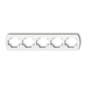 Ramka pięciokrotna pozioma biała RH-5 TREND KARLIK