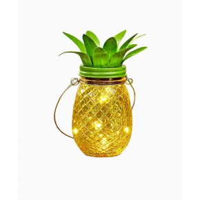 Lampy-solarne-balkonowe - słoik solarny led ananas lampka pineapple 3000k polux