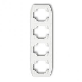 Ramka poczwórna pionowa biała RV-4 TREND KARLIK