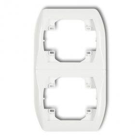 Ramka pionowa podwójna biała RV-2 TREND KARLIK