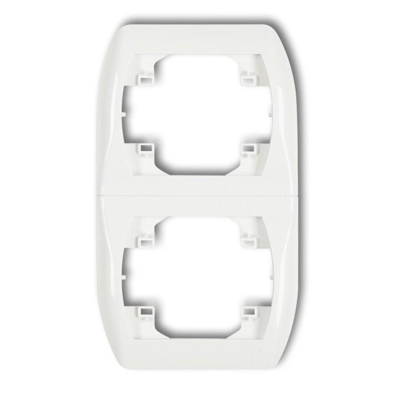 Ramki-podwojne - ramka pionowa podwójna biała rv-2 trend karlik firmy Karlik