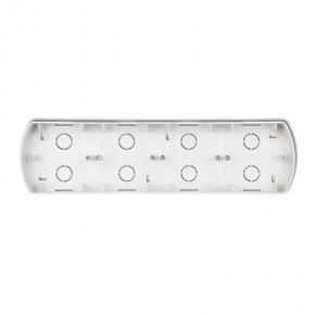 Puszka montażowa poczwórna pozioma biała PTH-4 TREND KARLIK