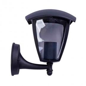 Kinkiety-ogrodowe - czarny kinkiet ogrodowy latarnia fox black e27 eko-light