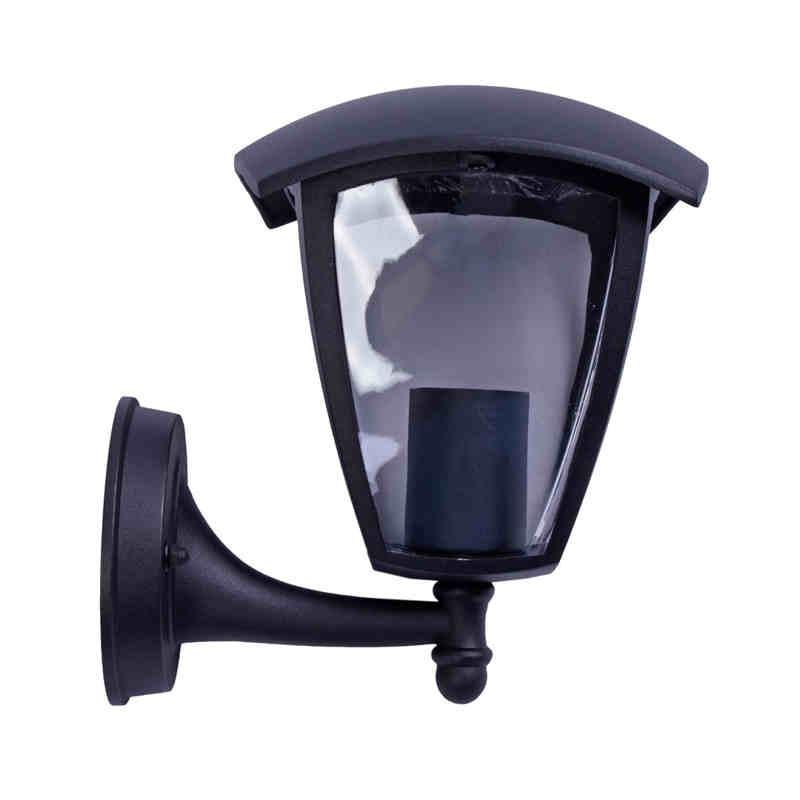 Kinkiety-ogrodowe - czarny kinkiet ogrodowy latarnia fox black e27 eko-light firmy EKO-LIGHT