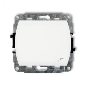 Biały Włącznik schodowy WP-3 TREND KARLIK
