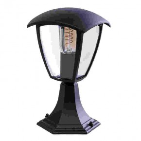 Slupki-ogrodowe - słupek ogrodowy latarnia czarna fox black e27 29cm eko-light