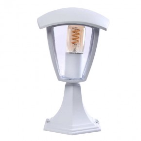 Slupki-ogrodowe - słupek ogrodowy biała latarenka fox white e27 29cm eko-light