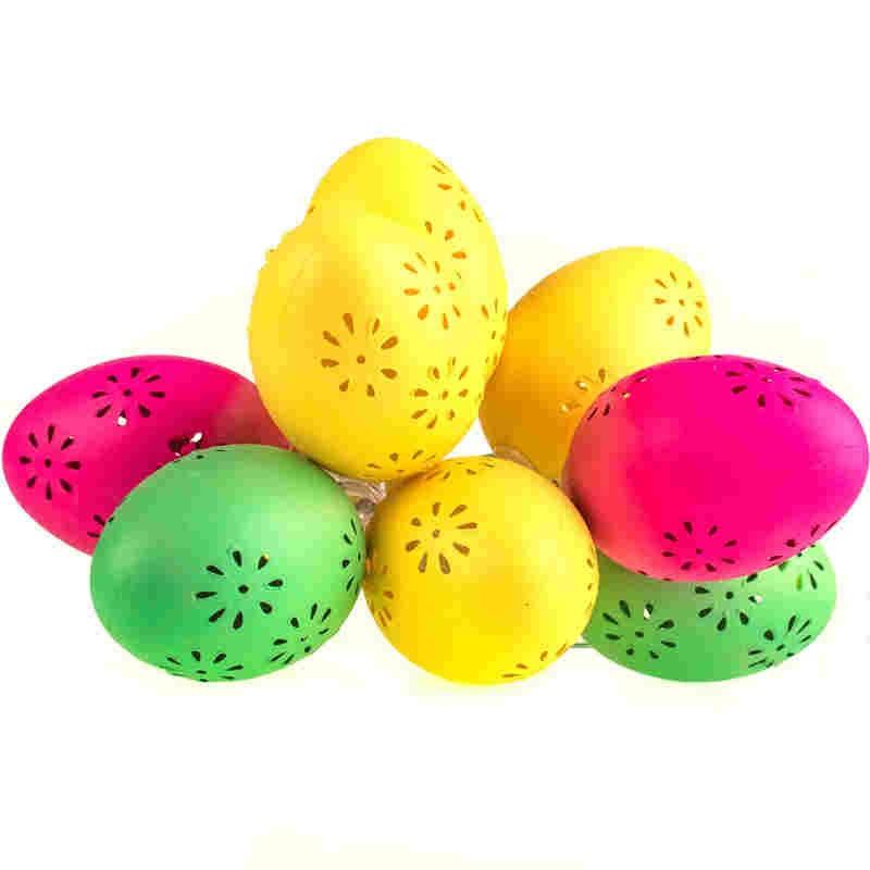 Swiecace-kule-i-girlandy - girlanda wielkanocna led kolorowe jaja ażurowe eko-light firmy EKO-LIGHT