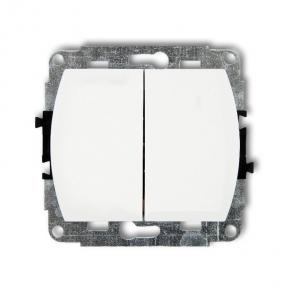 Włącznik świecznikowy podświetlany biały WP-2 TREND KARLIK
