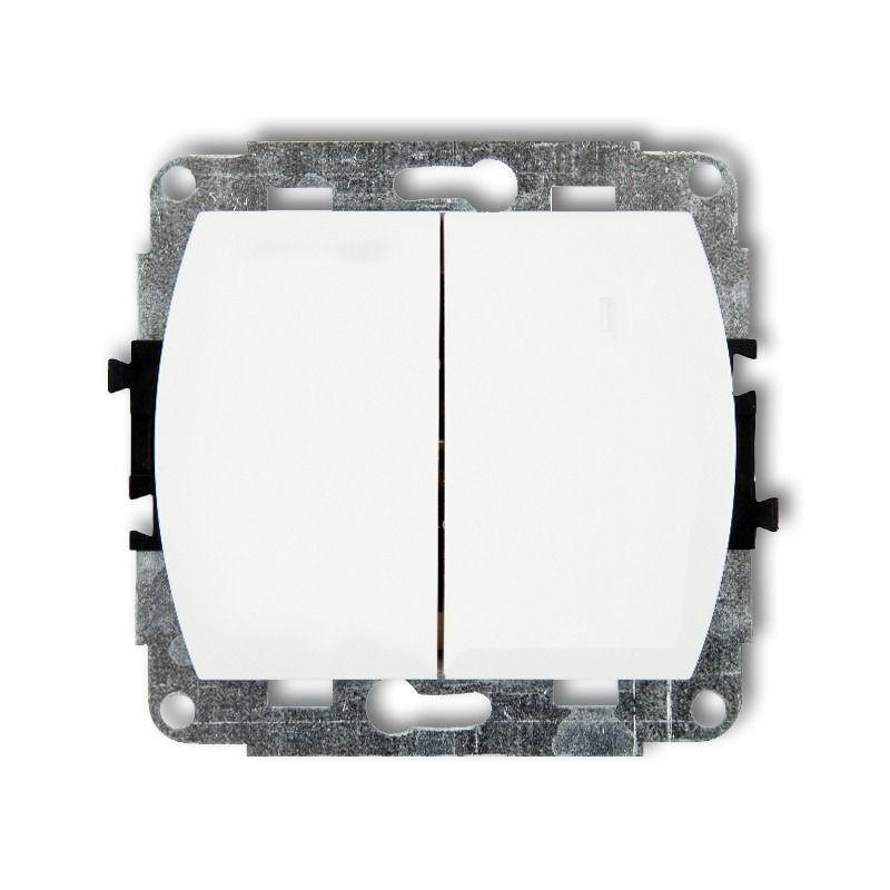 Wylaczniki-podwojne - włącznik świecznikowy biały wp-2 trend karlik firmy Karlik