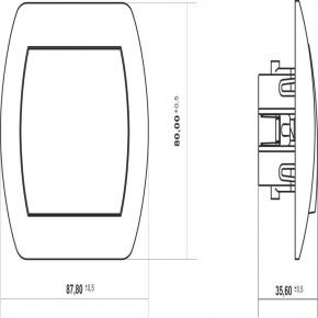 WP-6L Biały włącznik krzyżowy z podświetleniem TREND KARLIK