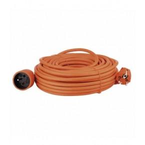 Przedluzacze-elektryczne - pomarańczowy przedłużacz ogrodowy o długości 25m z jednym gniazdem p01125 emos