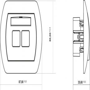 Gniazdo głośnikowe podwójne GG-2 2x TREND KARLIK