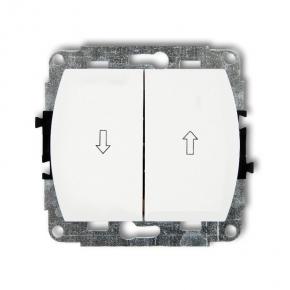 WP-8 Włącznik żaluzjowy biały TREND KARLIK
