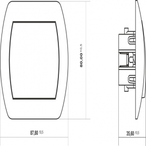7WP-4L Przycisk do dzwonka z podświetleniem TREND KARLIK szary metalik