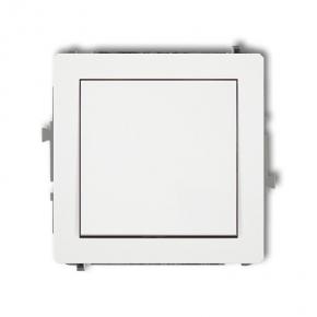 DWP-4.1 Włącznik jednoklawiszowy zwierny jednobiegunowy DECO KARLIK BIAŁY