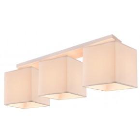 LAMPA BOHO AMPLA 3X40W E27 BIAŁY ABAŻUR BEŻOWY