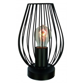 LAMPKA FACTORIA GABINETOWA 1X60W E27 CZARNY MAT