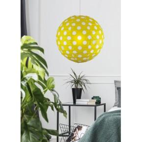 Lampy-sufitowe - uroczy abażur żółty w białe kropki kokon 70-76178 candellux