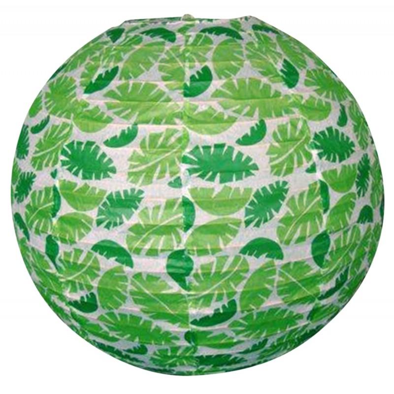 Lampy-sufitowe - papierowa kula w zielone listki kokon 70-94011 candellux firmy Candellux