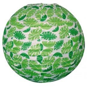 Lampy-sufitowe - papierowa kula w zielone listki kokon 70-94011 candellux