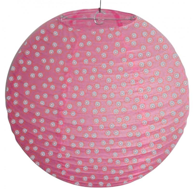 Lampy-sufitowe - papierowy abażur różowy w białe kropki kokon 70-94028 candellux firmy Candellux