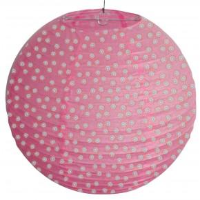 Lampy-sufitowe - papierowy abażur różowy w białe kropki kokon 70-94028 candellux
