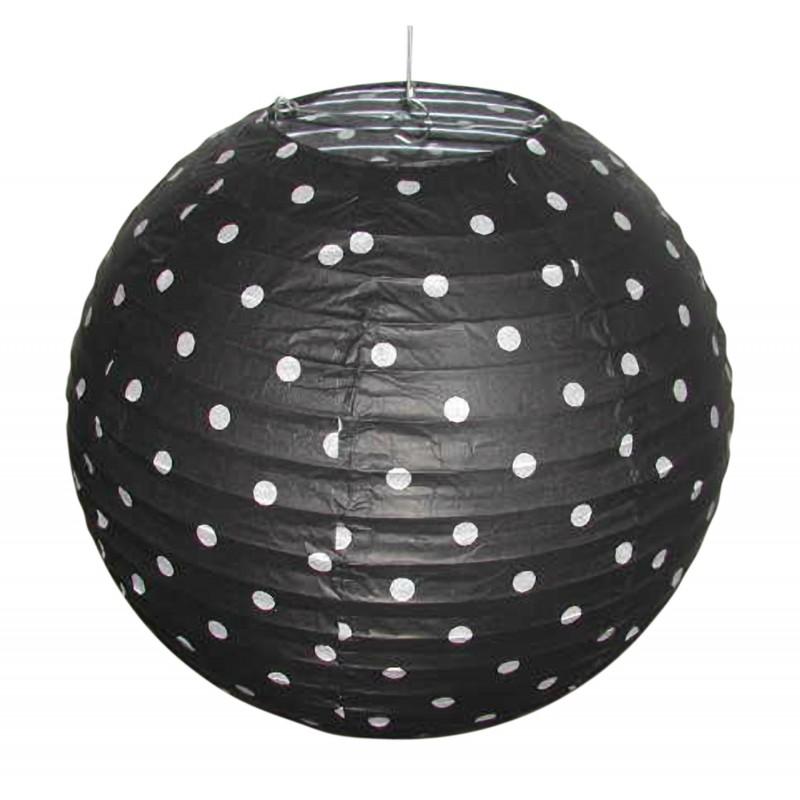 Lampy-sufitowe - czarny abażur w białe kropki kokon 70-94035 candellux firmy Candellux