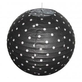 Lampy-sufitowe - czarny abażur w białe kropki kokon 70-94035 candellux