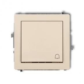Beżowy przycisk do dzwonka na klatkę 1DWP-4 DECO KARLIK