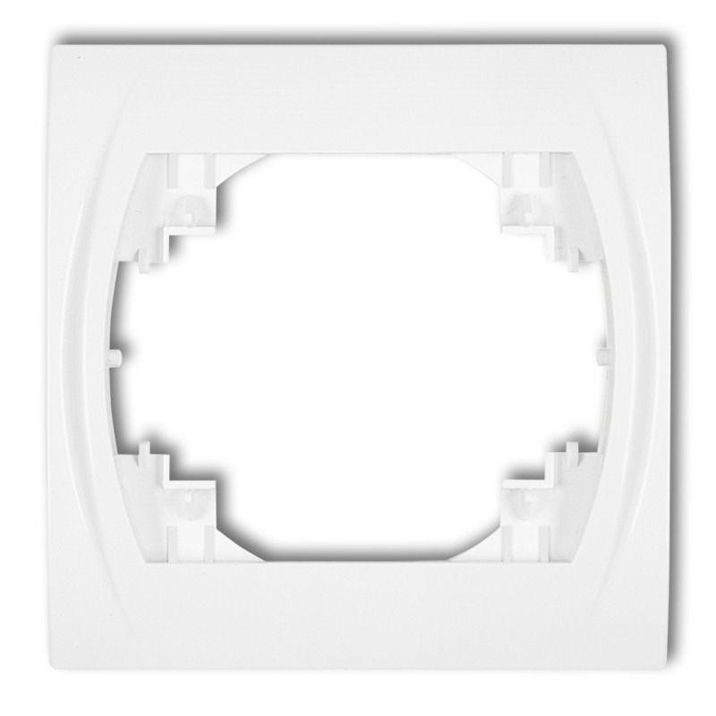 LRH-1 Ramka instalacyjna pojedyncza biała LOGO KARLIK