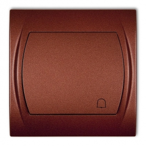9LWP-4 Przycisk dzwonkowy podtynkowy brązowy metalik LOGO KARLIK
