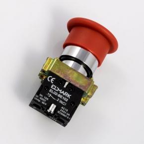 Wylaczniki-awaryjne - przycisk awaryjny dłoniowy grzybek  czerwony nc elmark el 2-bc 42